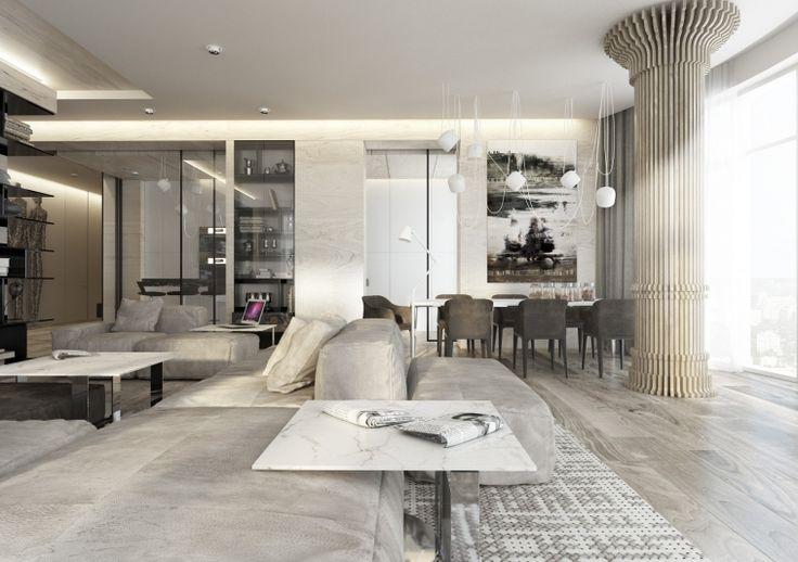 """Дизайн проект квартиры VIP-класса, в стиле Minimal&Modern&Classic, расположенная в жилищном комплексе """"Diamond Hill"""""""