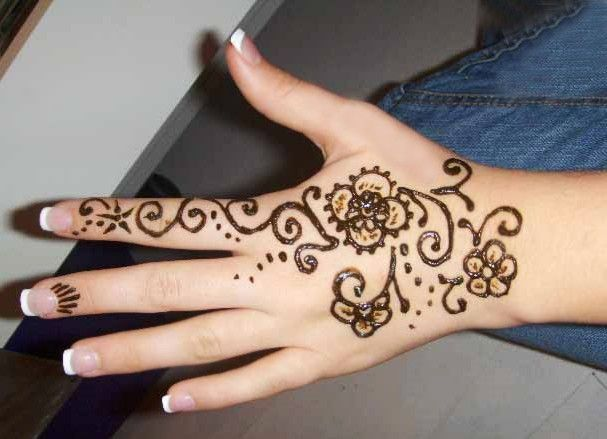 Easy Mehndi Designs Patterns Images Book For Hand Dresses For Kids Images Flowers Arabic On Paper Balck And White Simple - Fashion Unique Design