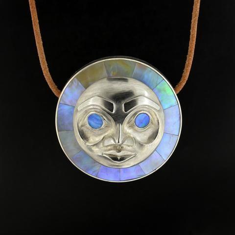 Moon - Silver Pendant