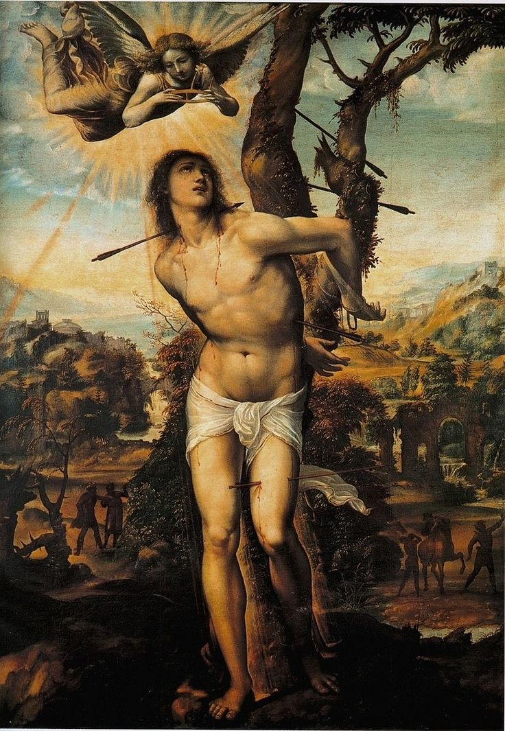 Содома. Св. Себастьян. 1525 г. Галерея Питти, Флоренция.