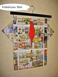 Folded Paper Art -Foldulicious Shirt-The Simpsons