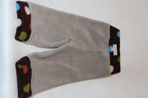 Mediumsoft fleece longie pants made in beige by bananabottoms, $15.50