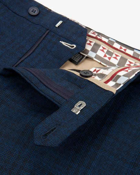 Checked wool suit trouser - Blue | Suits | Ted Baker UK