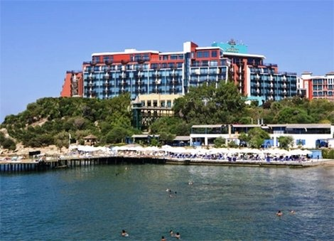 Merit Crystal Cove Hotel, North Cyprus. The Merit Hotel offers 5* accommodation on an All Inclusive basis. Located on the North Cyprus coast overlooking the beautiful Mediterranean sea.