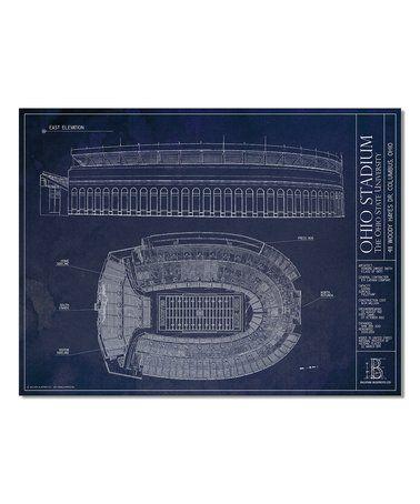 Ohio State Buckeyes Ohio Stadium Print #zulily #zulilyfinds