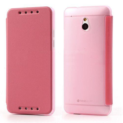 Roze compact sideflip hoesje voor de HTC One mini