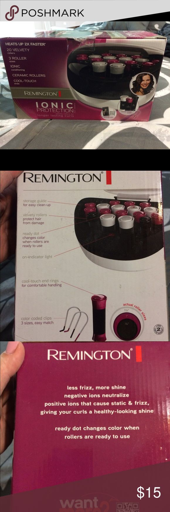 Remington Hair Curlers Brand new set of Remington hair curlers.  Bought for my daughter but she has never used them. Remington Other