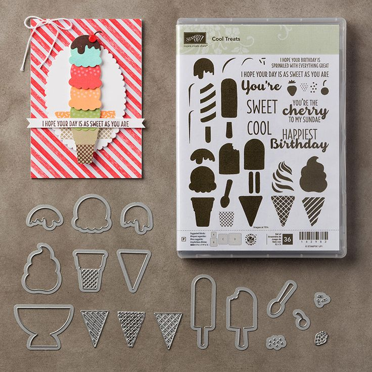 The Cool Treats Photopolymer Bundle is one of My Favorite Things from the Stampin' Up! 2017 Occasions catalog.  For more details about this product and to shop, visit: http://www.stampinup.com/ECWeb/ProductDetails.aspx?productID=145181&dbwsdemoid=2026178