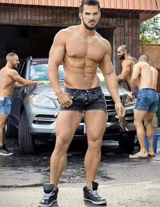 gay guy clean car