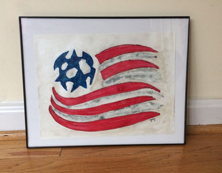 New England Revolution Soccer Wall Art   Gift For Him   Gift For Dad    Tailgate