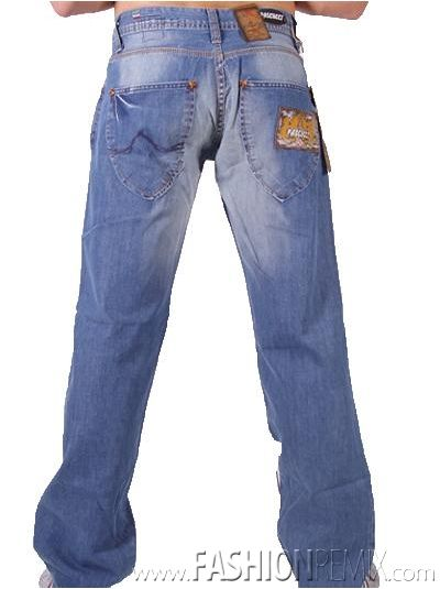 pascucci lichtblauwe spijkerbroek/jeans voor hem/mannen/heren
