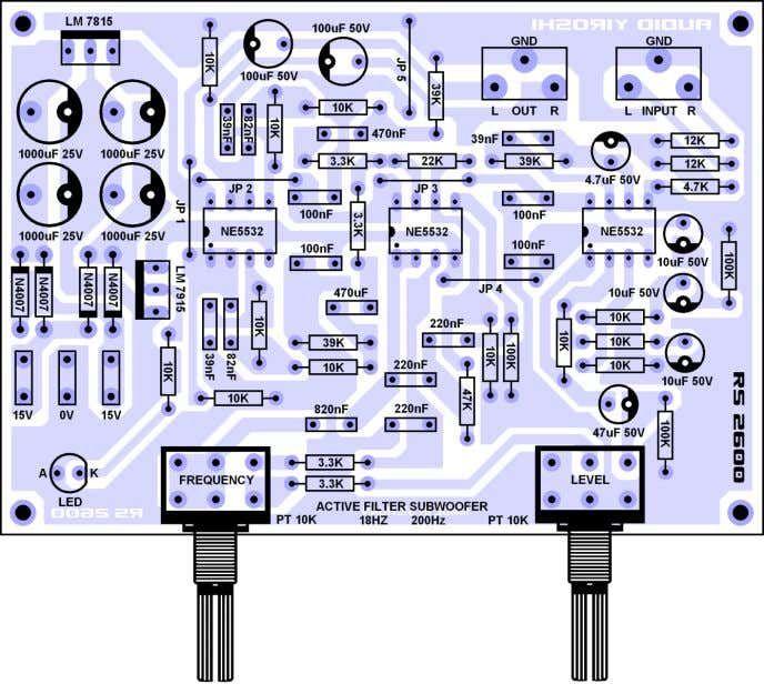 Active Filter Subwoofer Stereo Audio Yiroshi 1 Audio Amplifier Subwoofer Subwoofer Amplifier