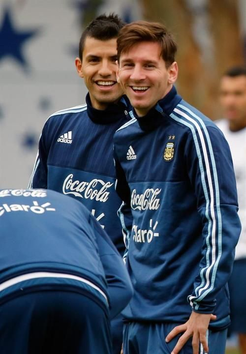 Sergio Aguero and Messi