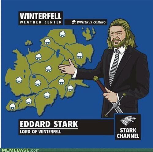 O inverno está chegando...