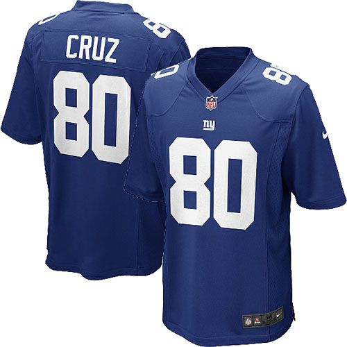 Nike Elite Youth New York Giants #80 Victor Cruz Team Color Blue NFL Jersey  $79.99