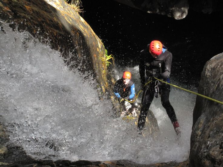 Canyoning Wanaka... Challenge yourself in ways you'd never dreamed of. Plunge down water polished chutes and abseil down waterfalls. Jump off cliffs! Climb, swim and float through an amazing world of water- sculpted rock, deep clear pools and spectacular waterfalls.