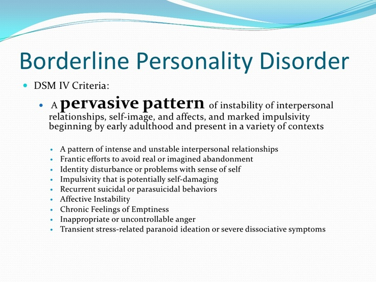 bipolar and paranoid personality disorder essay Borderline personality disorder was defined by dsm-iii-r as a condition marked by a pervasive pattern of instability of mood, interpersonal relationships, and self-image, beginning by early adulthood and present in a variety of contexts, as indicated by at least five of the following.