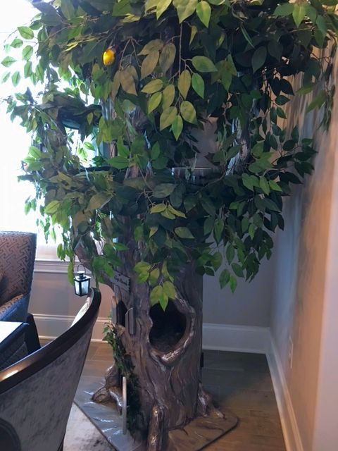 Extra Large Cat Trees - Fantasy Tree with Silver Highlights
