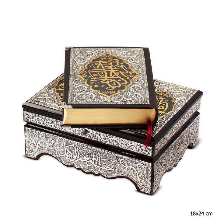 Gümüş Kuran- Kerim Rahleli Sandık ::