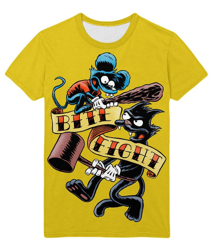 awesome T-shirt Ithcy and Scratchy Simpsons Cartoon Art Mouse Cat  -  T-shirt Merch Ithcy and Scratchy Apparels Buy You can get longsleeve or t-shirt, even tanks for boys and girls. Just picks the size of your favourite apparel and put the item to a basket.