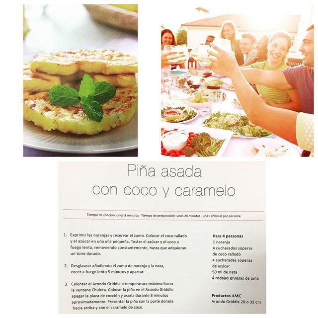 Piña asada con coco y caramelo¡Buenísima!