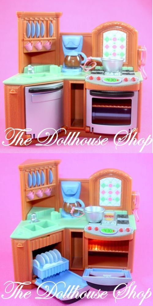 Dollhouses 20898 Fisher Price Loving Family Dollhouse Brown Doll Oven Stove Premium Kitchen Sound It Now Only 16 24 On Eb