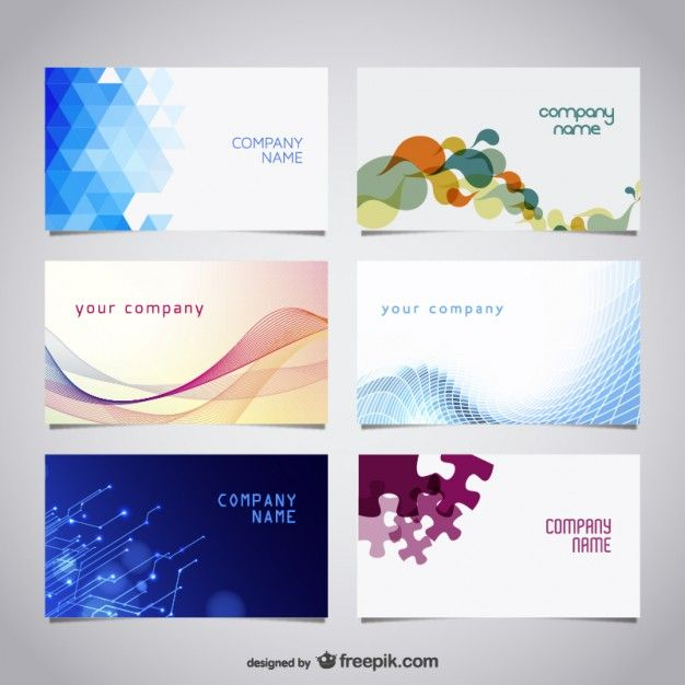226 best business cards images on pinterest business cards carte vector free business cards kit free vector reheart Choice Image