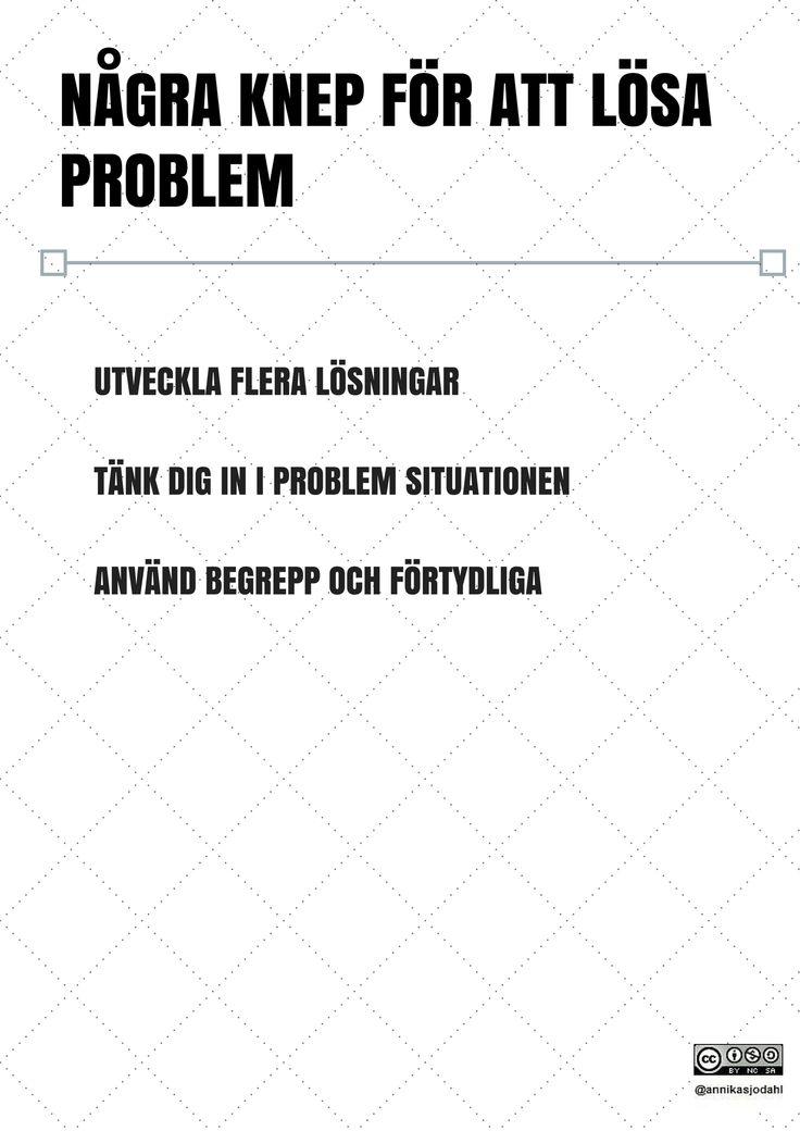 Några knep för att lösa porblem av Annika Sjödahl
