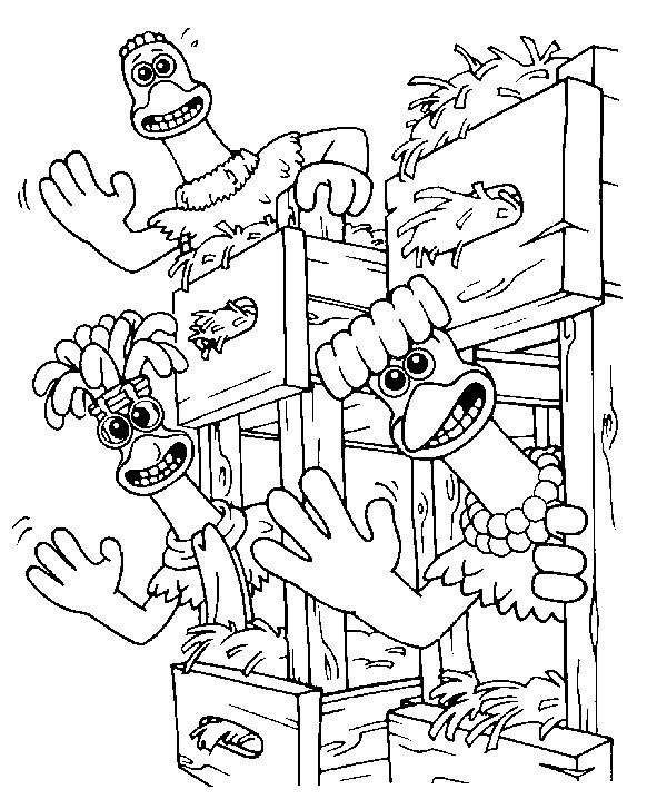Chicken Fun Coloring Page
