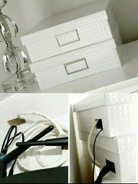 Good idea for hiding pesky wires