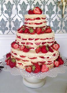 Strawberry & Vanilla Wedding cake