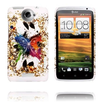 Valentine (Fargerik Sommerfugl) HTC One X Deksel
