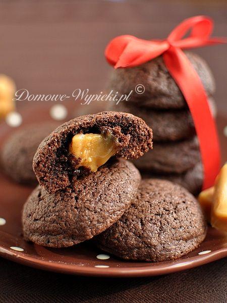 Kakaowe ciasteczka z krówką