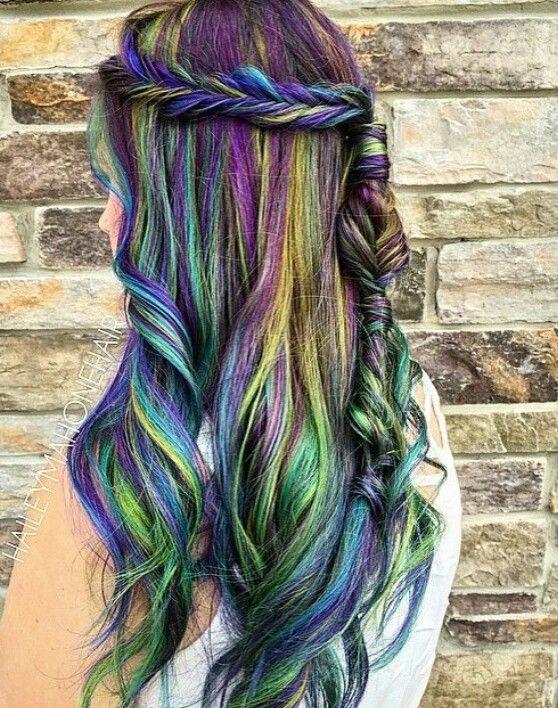 Oil Slick Hair Style Pinterest Oil Slick Hair Hair