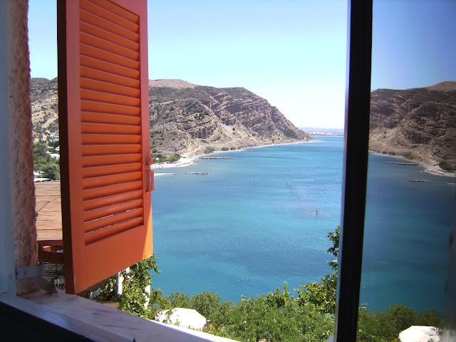 Beautiful view over the Agia Galini Bay, Crete
