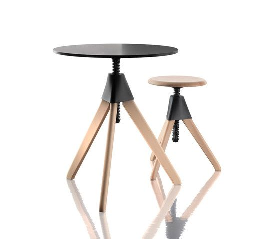 Zur ck in die zukunft the wild bunch dining tables and - Table basse hauteur ajustable ...
