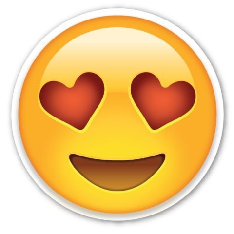 Smiling Face with Heart Shaped Eyes | EmojiStickers.com
