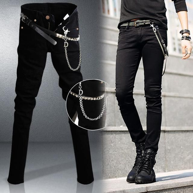 Men Designer Slim Fit Jeans / Super Skinny Pants With ...
