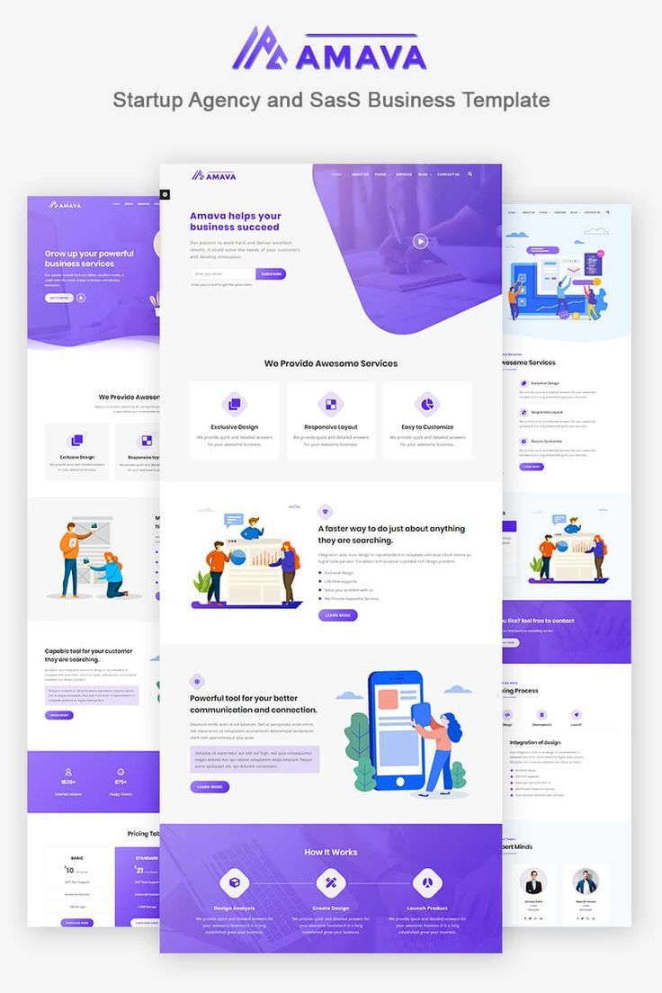 Live Demo For Amava Startup Agency And Sass Business Website Template 79125 Business Website Templates Business Website Design Web Design Websites