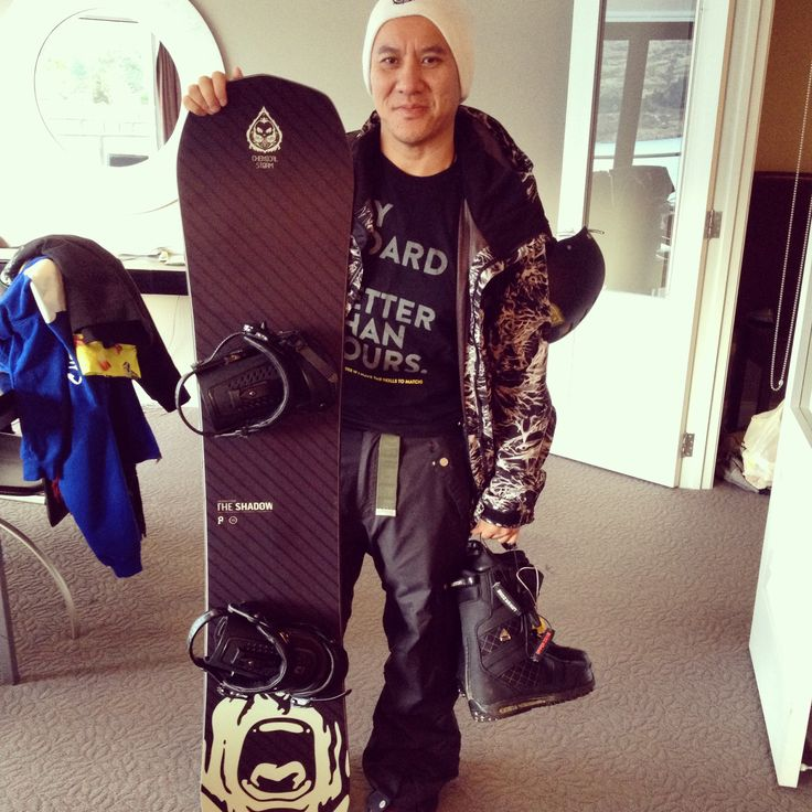 """Chemical Storm: Jeff Pang - Head Honcho about to head up to Coronet Peak in NZ on our latest trip with """"The Shadow"""""""