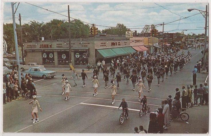 "Hazel Park Michigan Postcard ""Senior High School Band, Memorial Day Parade"" 1966"