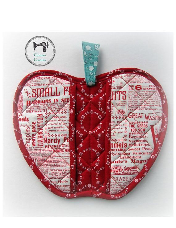 Orchard Hot Pad ~Apple~ By Charise Randell  I love to make hot pads and have more than I can count on one hand! They are fast and easy projects