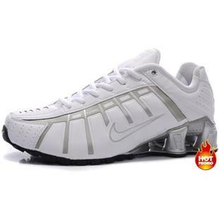 http://www.asneakers4u.com Mens Nike Shox NZ 3 OLeven White Grey Black
