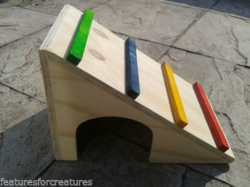 PINE-PLYWOOD-RAMP-HIDEOUT-4-RUN-CAGE-GUINEA-PIG-DWARF-RABBIT
