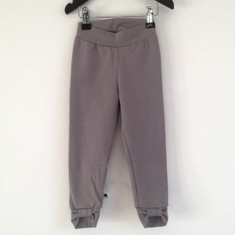 Bow Leggings - Light Grey