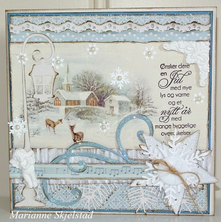 Today I have chosen one of the beautiful images from the Days of Winter collection to make a Christmas card in blue. The frames from the Memory Notes collection make a perfect writing space on the inside.Have a nice day,Marianne.Pion products:Days of Winter – Church PD5105Days of…