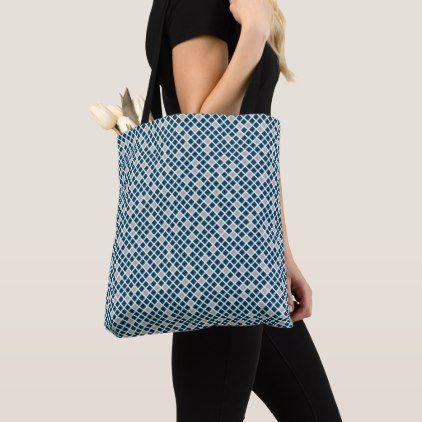Snakeskin - Sailor Blue & Harbor Mist Grey Tote Bag - blue gifts style giftidea diy cyo