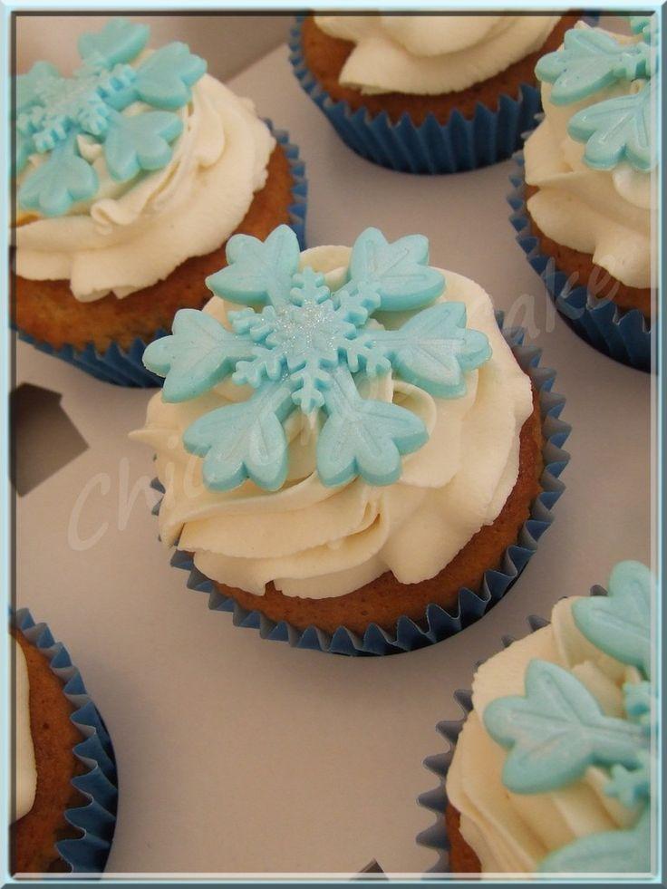 Tutoriel : décoration de cupcakes Reine des Neiges...