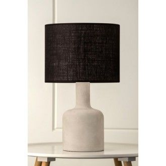 tomahawk concrete table lamp with black shade