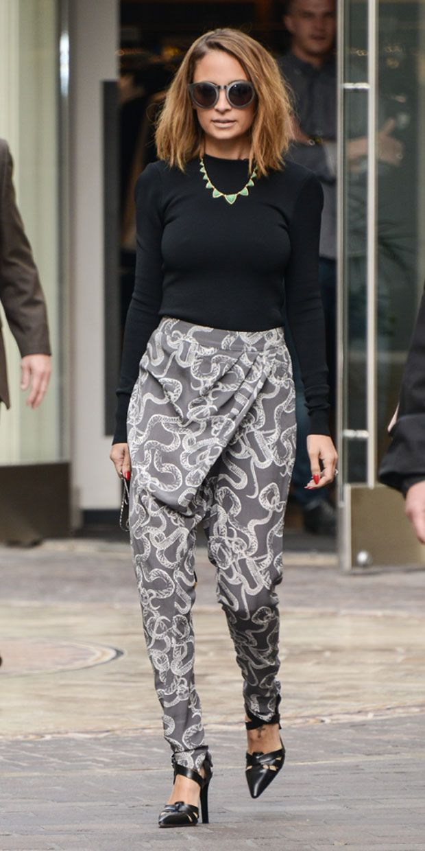 Nicole Richie in Winter Kate, via Who What Wear